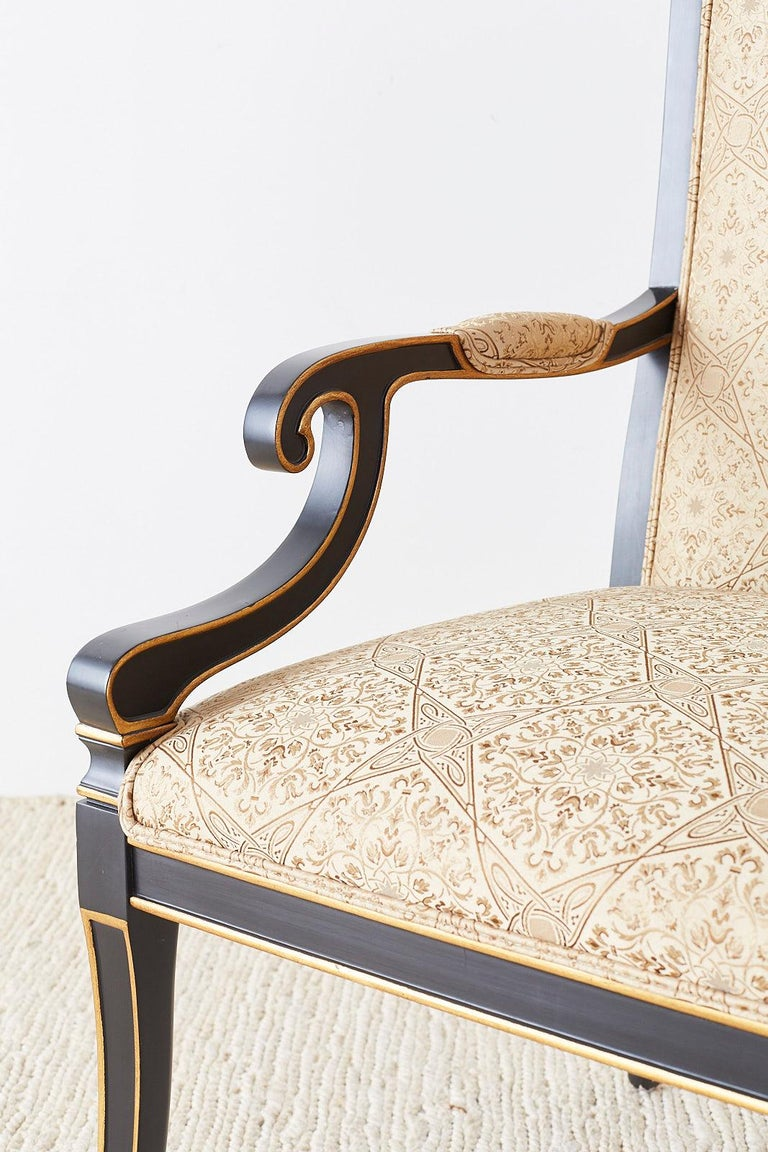 Set of Ten Karges English Regency Style Dining Chairs 4