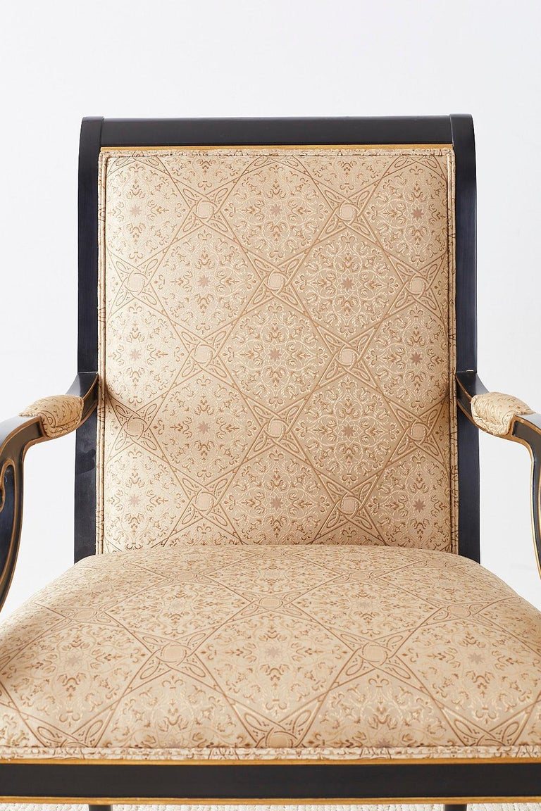 Set of Ten Karges English Regency Style Dining Chairs 6