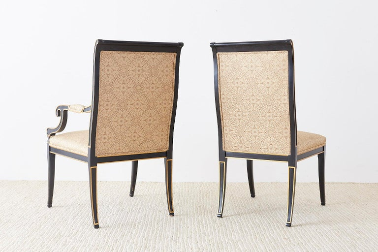 Set of Ten Karges English Regency Style Dining Chairs 13