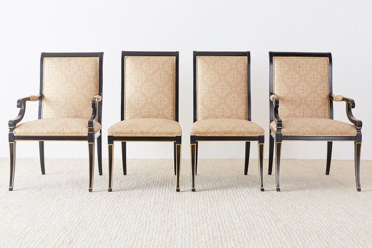 American Set of Ten Karges English Regency Style Dining Chairs