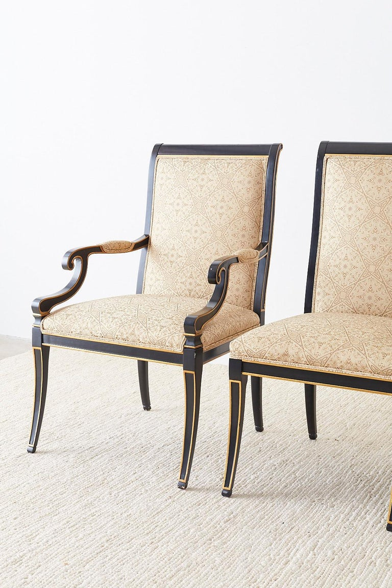 Set of Ten Karges English Regency Style Dining Chairs 2