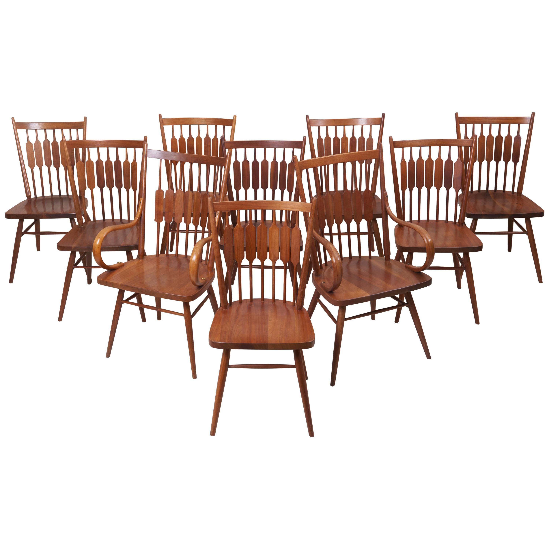 """Set of Ten Kipp Stewart for Drexel """"Centennial"""" Chairs"""