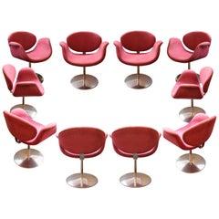 "Set of Ten ""Little Tulip"" Armchairs by Pierre Paulin, 163 Model, circa 1965"