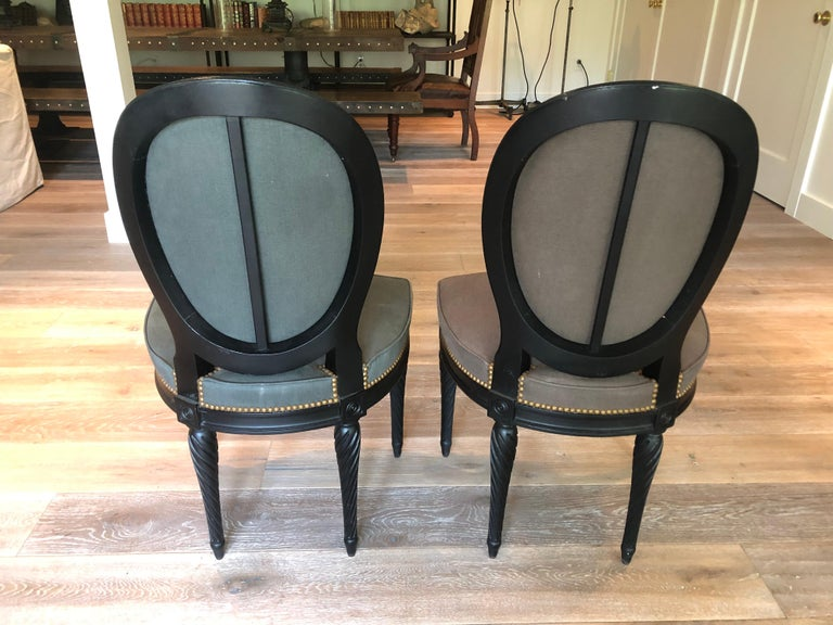 Set of Eight Louis XVI Style Dining Chairs For Sale 3