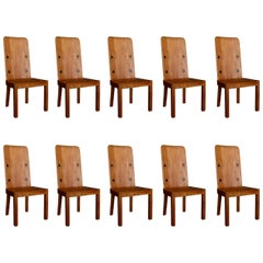 "Set of Ten ""Lovö"" Chairs by Axel Einar-Hjorth, 1930s"