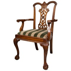 Set of Ten Mahogany George III Style Dining Chairs