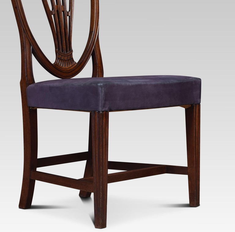 Set of Ten Mahogany Shield Back Dining Chairs In Good Condition For Sale In Cheshire, GB