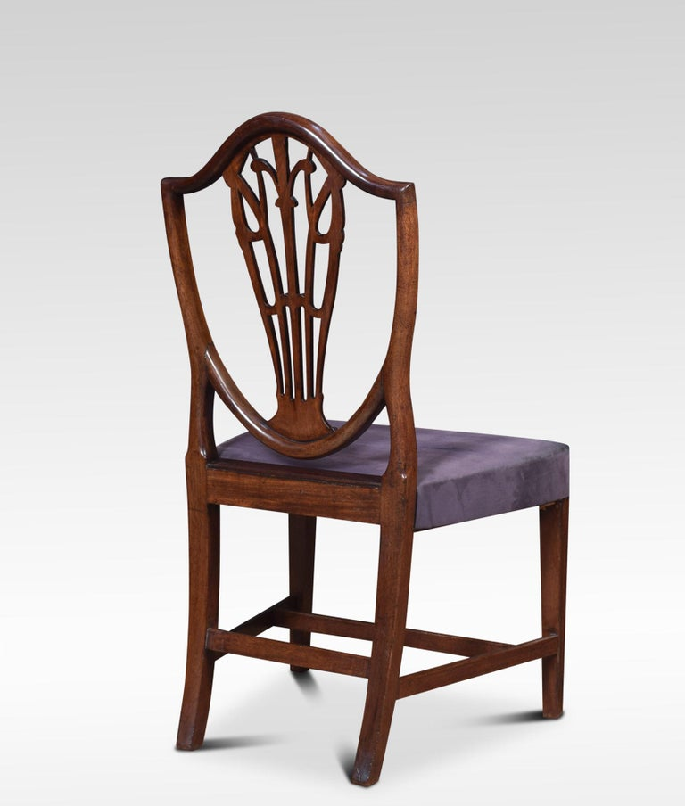 Set of Ten Mahogany Shield Back Dining Chairs For Sale 2
