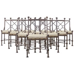 Set of Ten Mario Papperzini for Salterini Style Garden Chairs