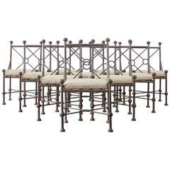 Set of Ten Mario Papperzini for Salterini Style Garden Chairs