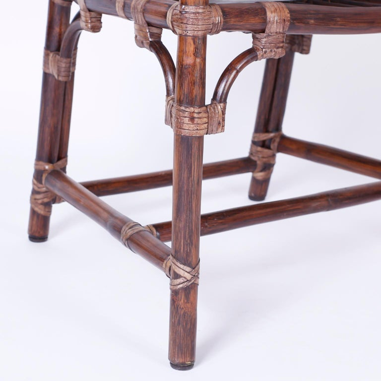 Set of Ten McGuire Rattan Dining Chairs For Sale 1