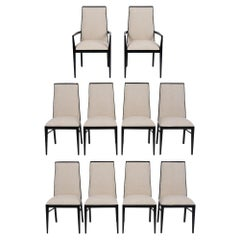 Set of Ten Midcentury 1960s Dining Chairs