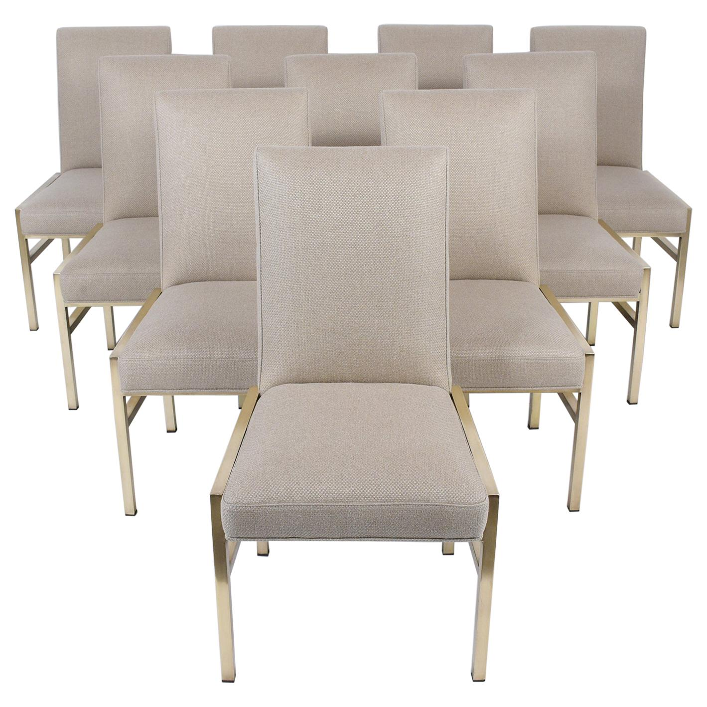Set of Ten Mid-Century Dining Chairs