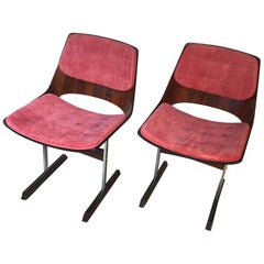 Set of Ten Modern Dining Chairs in Rosewood by Jorge Zalszupin