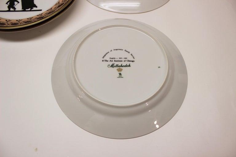 Set of Ten Mottahedeh Silhouette Dessert Plates For Sale 4
