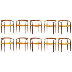 Set of Ten Danish Armchairs by Nanna Ditzel for Kold Savaerk Mod 113, Denmark