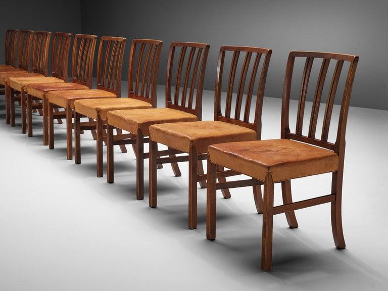 Set of Ten Ole Wanscher Dining Chairs for Fritz Hansen 3