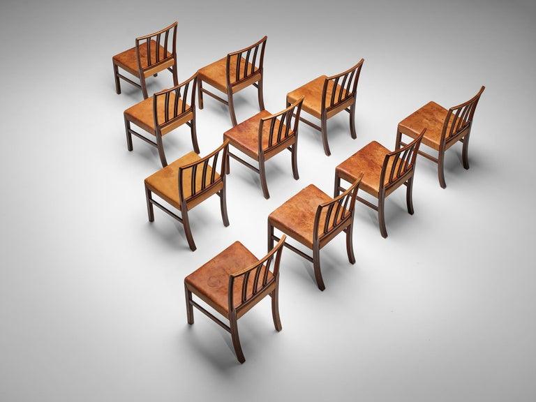 Set of Ten Ole Wanscher Dining Chairs for Fritz Hansen 4