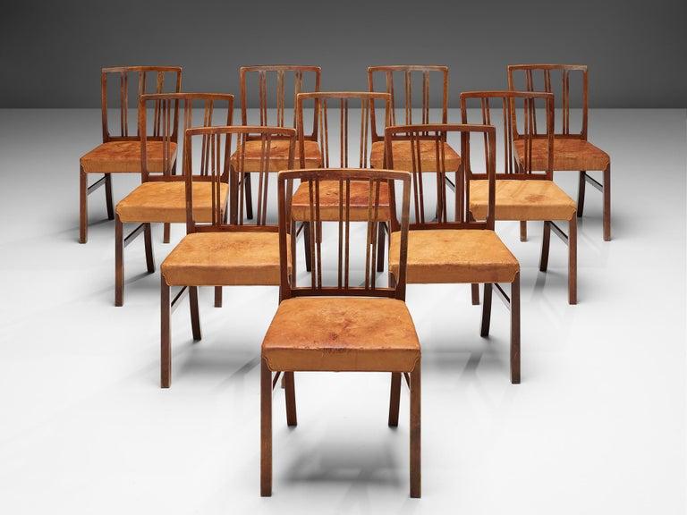 Danish Set of Ten Ole Wanscher Dining Chairs for Fritz Hansen
