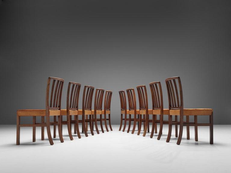 Set of Ten Ole Wanscher Dining Chairs for Fritz Hansen In Good Condition In Waalwijk, NL