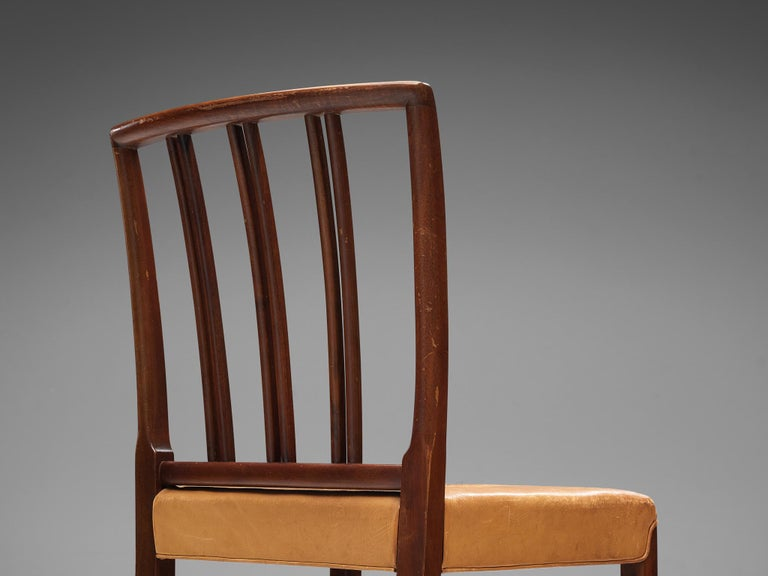 Leather Set of Ten Ole Wanscher Dining Chairs for Fritz Hansen