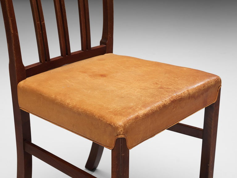 Set of Ten Ole Wanscher Dining Chairs for Fritz Hansen 1