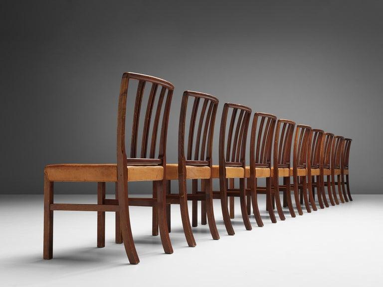 Set of Ten Ole Wanscher Dining Chairs for Fritz Hansen 2