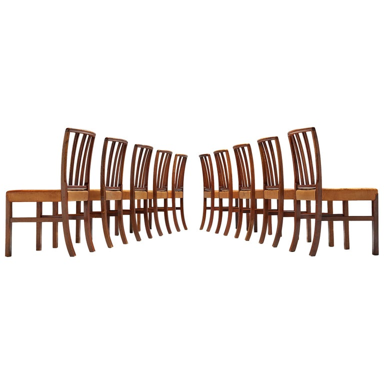 Set of Ten Ole Wanscher Dining Chairs for Fritz Hansen