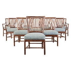 Set of Ten Orlando Diaz-Azcuy for McGuire Dining Chairs