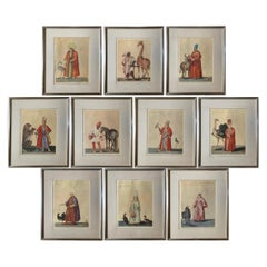 Set of Ten Prints of Ottoman Figures with Animals