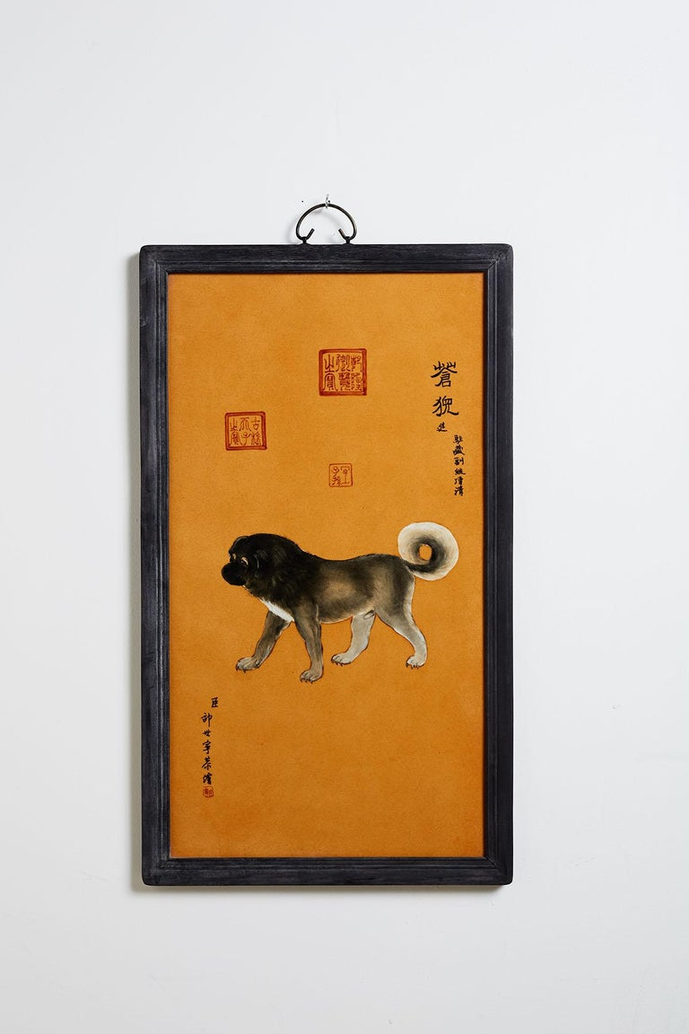Satz von zehn Qing-Stil Porzellanteller nach Lang Shining 10