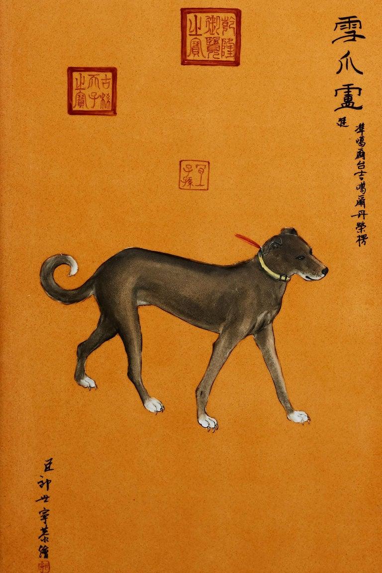Satz von zehn Qing-Stil Porzellanteller nach Lang Shining 14