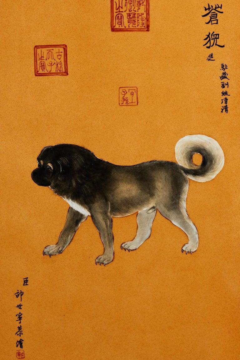 Satz von zehn Qing-Stil Porzellanteller nach Lang Shining 17