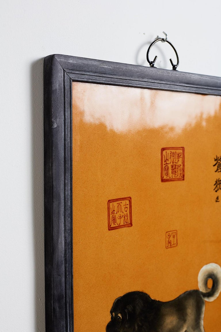 Satz von zehn Qing-Stil Porzellanteller nach Lang Shining 19
