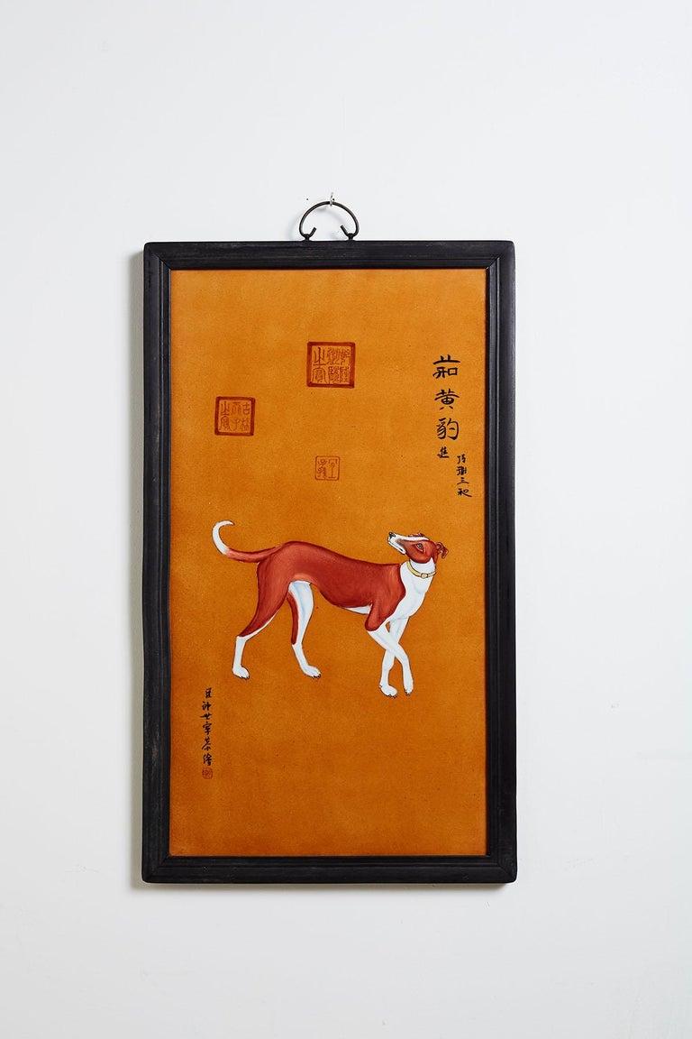 Satz von zehn Qing-Stil Porzellanteller nach Lang Shining 2