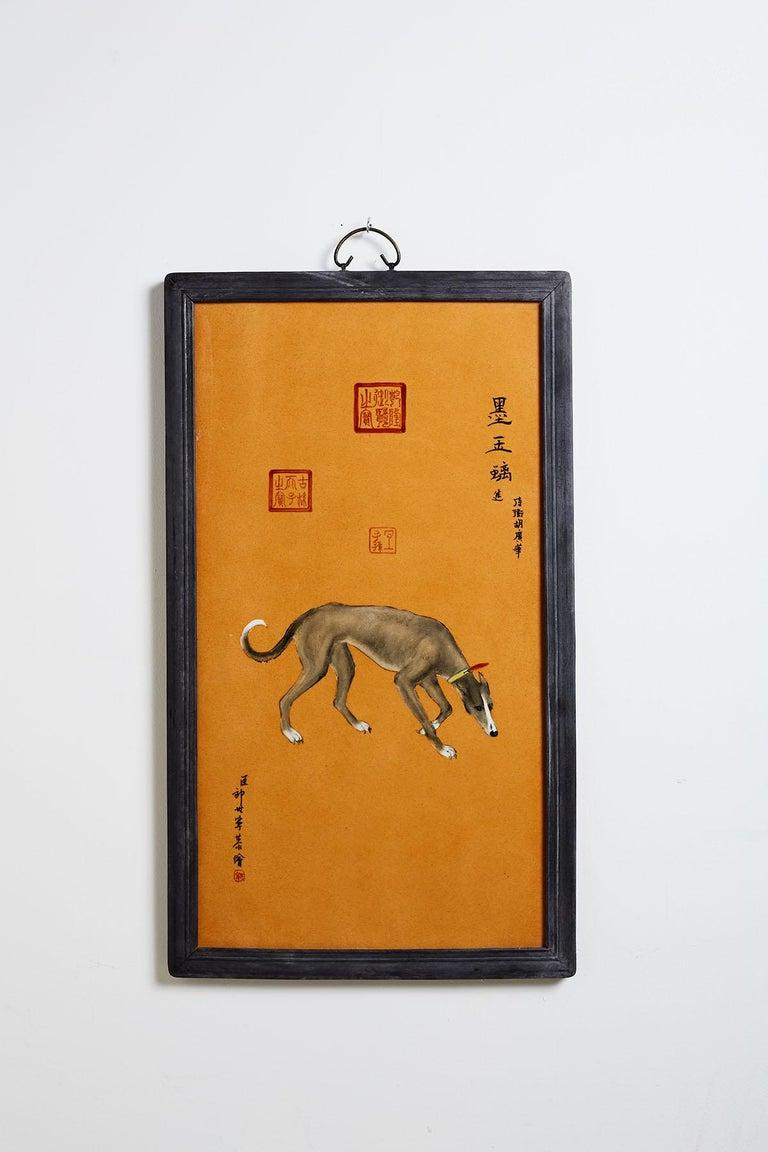 Satz von zehn Qing-Stil Porzellanteller nach Lang Shining 3