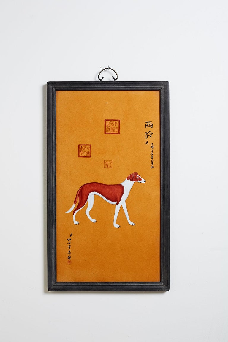 Satz von zehn Qing-Stil Porzellanteller nach Lang Shining 4