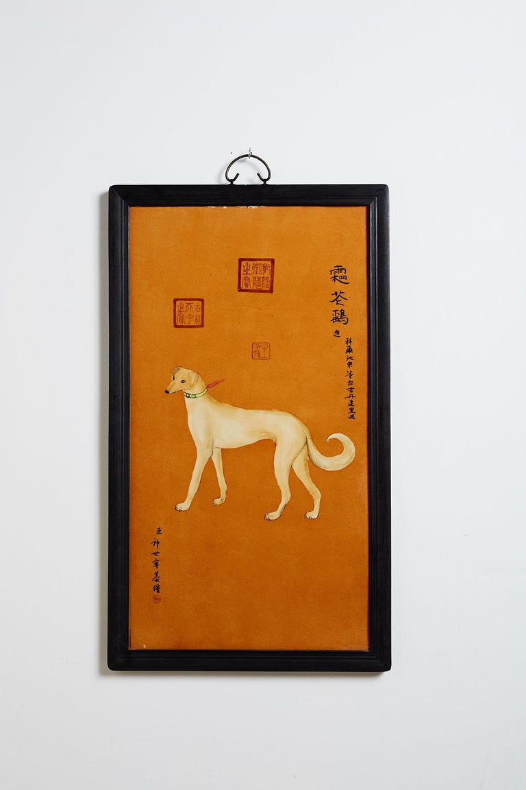 Satz von zehn Qing-Stil Porzellanteller nach Lang Shining 5