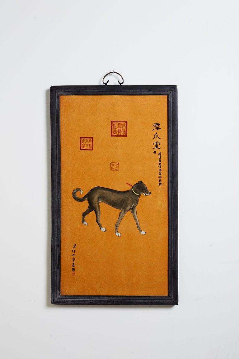 Satz von zehn Qing-Stil Porzellanteller nach Lang Shining 7