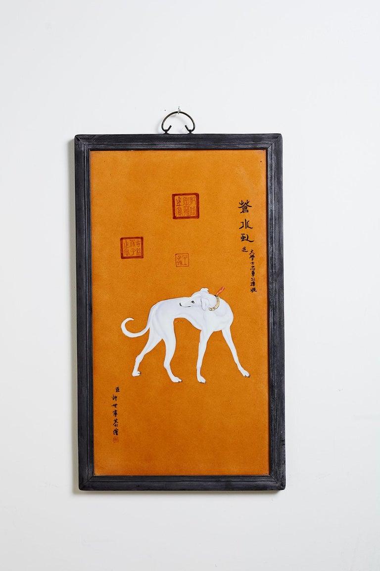 Satz von zehn Qing-Stil Porzellanteller nach Lang Shining 8
