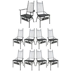 Set of Ten Rare Salterini El Prado Chairs