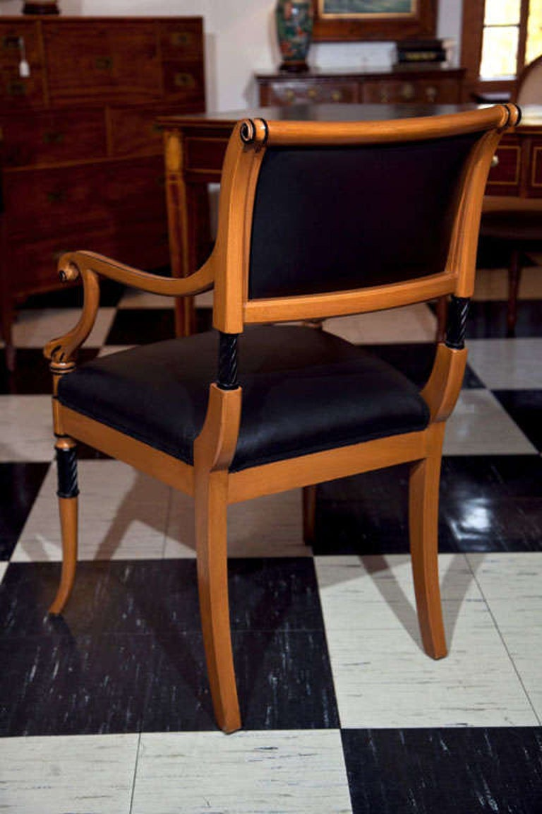 Set of Ten Regency Style Dining Chairs For Sale 4