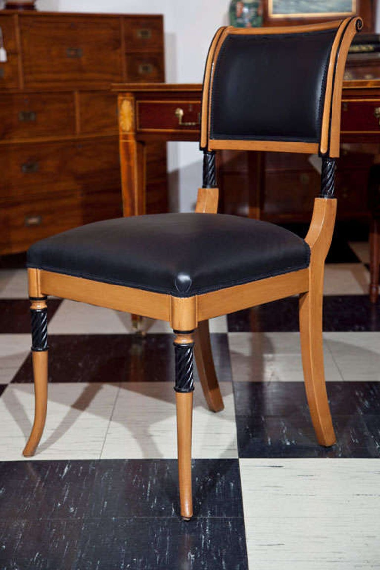 Spanish Set of Ten Regency Style Dining Chairs For Sale