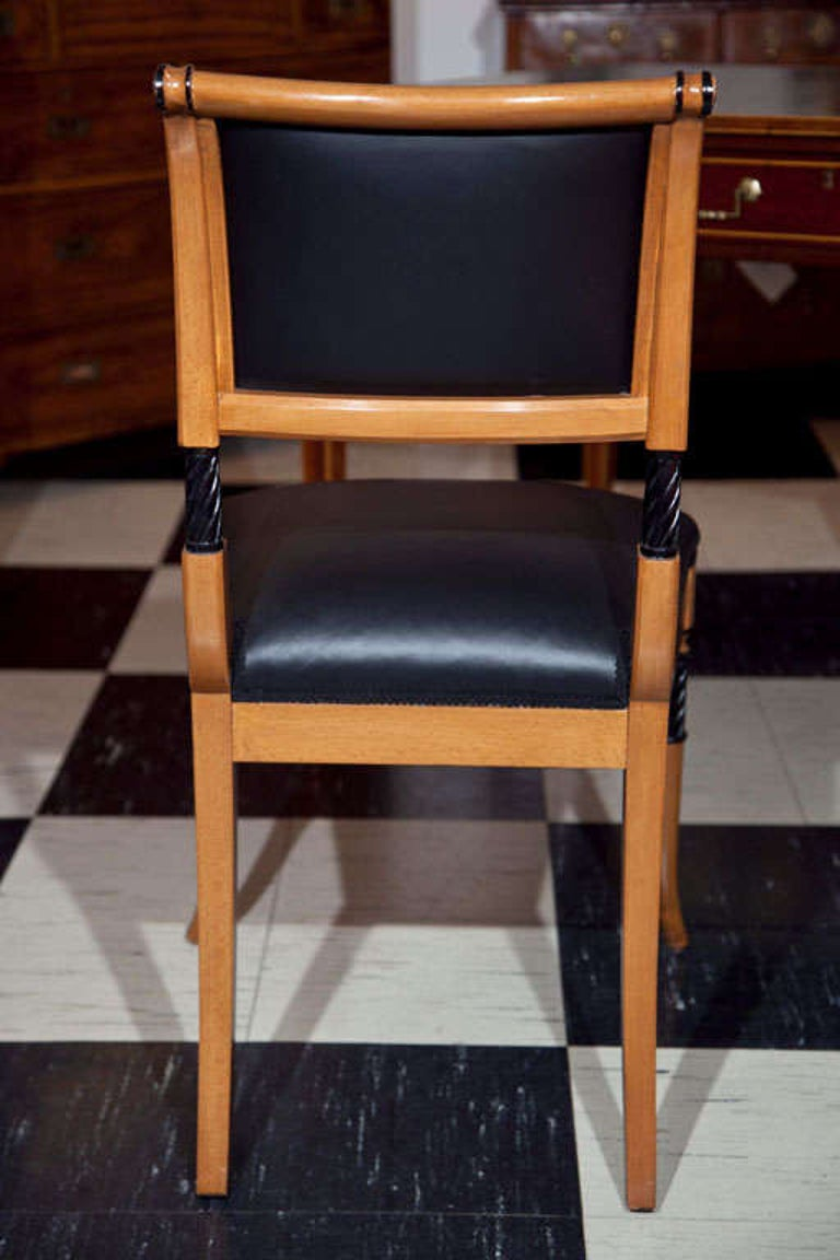 Upholstery Set of Ten Regency Style Dining Chairs For Sale