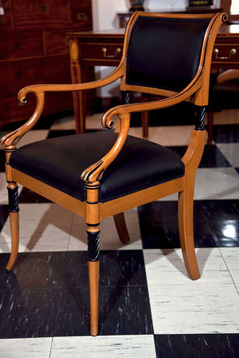 Set of Ten Regency Style Dining Chairs For Sale 1