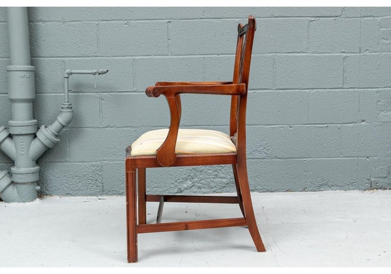 American Set of Ten Stickley Chippendale Style Carved Mahogany Dining Chairs For Sale
