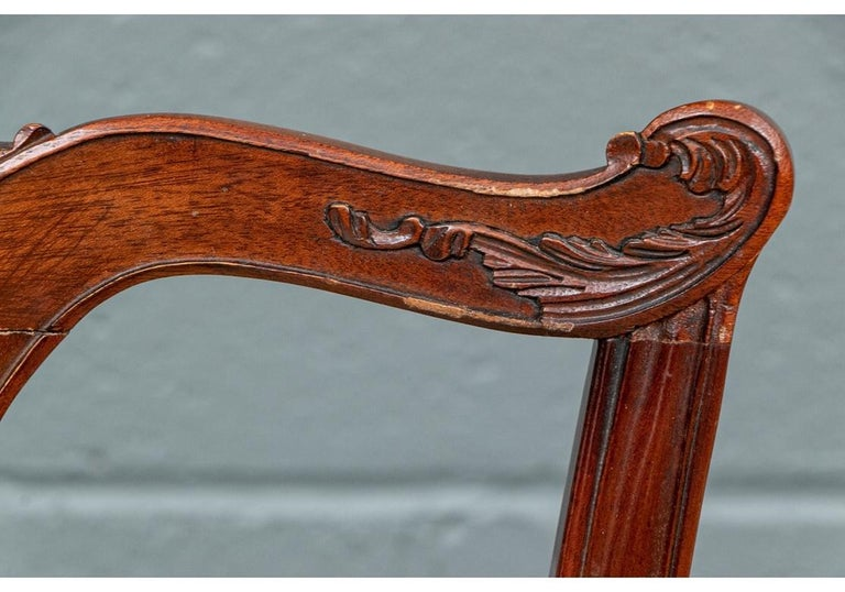 Set of Ten Stickley Chippendale Style Carved Mahogany Dining Chairs For Sale 4
