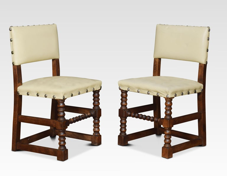 British Set of Ten Substantial Oak Dining Chairs For Sale