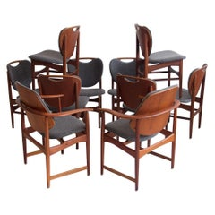 Set of Ten Teak Chairs by Arne Hovmand-Olsen