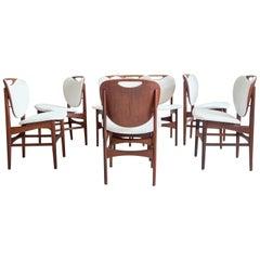 Set of Ten Teak Chairs by Arne Hovmand-Olsen